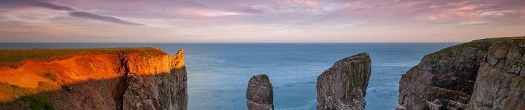 Bottom Image: Seascape Sunset